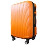 スーツケース/キャリーバッグ 【Lサイズ/大型7~14日】 TSA搭載 軽量 ファスナー オレンジ
