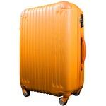 スーツケース/キャリーバッグ 【Mサイズ/中型4~6日】 TSA搭載 軽量 ファスナー オレンジ