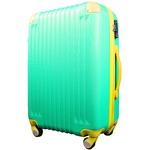 スーツケース/キャリーバッグ 【Mサイズ/中型4~6日】 TSA搭載 軽量 ファスナー グリーン(緑)×イエロー(黄)