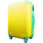 スーツケース/キャリーバッグ 【Mサイズ/中型4~6日】 TSA搭載 軽量 ファスナー イエロー(黄)×グリーン(緑)