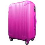 スーツケース/キャリーバッグ 【Lサイズ/大型7~14日】 TSA搭載 軽量 ファスナー ショッキングピンク