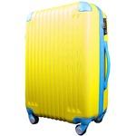 スーツケース/キャリーバッグ 【Lサイズ/大型7~14日】 TSA搭載 軽量 ファスナー イエロー(黄)×ブルー(青)