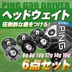 PING G30 ウェイト6点セット(6g8g10g12g14g16g)