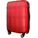 スーツケース 小型1-3日用 Sサイズ キャリーケース 超軽量 TSAロック搭載 大容量 ダブルファスナー 8輪キャリーバッグ 頑丈 人気色 レッド