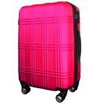 スーツケース 小型1-3日用 Sサイズ キャリーケース 超軽量 TSAロック搭載 大容量 ダブルファスナー 8輪キャリーバッグ 頑丈 人気色 ショッキングピンク
