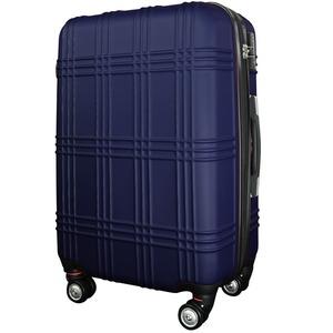 スーツケース 大型7-14日用 Lサイズ キャリーケース 超軽量 TSAロック搭載 大容量 ダブルファスナー 8輪キャリーバッグ 頑丈 人気色 ネイビー