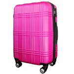 スーツケース 大型7-14日用 Lサイズ キャリーケース 超軽量 TSAロック搭載 大容量 ダブルファスナー 8輪キャリーバッグ 頑丈 人気色 ピンク