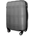 スーツケース 大型7-14日用 Lサイズ キャリーケース 超軽量 TSAロック搭載 大容量 ダブルファスナー 8輪キャリーバッグ 頑丈 人気色 シルバー