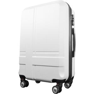 スーツケース 小型1-3日用 Sサイズ キャリーケース 超軽量 TSAロック搭載 大容量 ダブルファスナー 8輪キャリーバッグ 頑丈 人気色 ホワイト