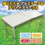 折りたたみ アルミテーブル 120cm アウトドアテーブル 収納 ピクニック 4人用-6人用