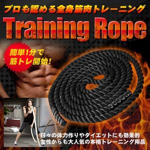 トレーニングロープ/ジムロープ ロープ 【長さ:9m】 ロープ太さ:50mm 重量:9kg 〔トレーニング用品 フィットネスグッズ〕 - 拡大画像