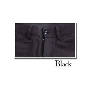 スーパーストレッチ美脚ストレートパンツ(レディース) ブラック 【Lサイズ】の写真1