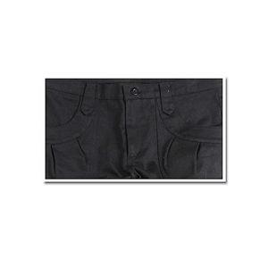 スーパーストレッチ美脚ストレートパンツ (デザインポケットVer.) ブラック 【Lサイズ】の写真1