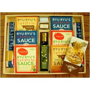 神戸RYURYU(リュリュ) ギフトセット パスタセット (スパゲッティ&パスタソース&オリーブオイル セット) - 拡大画像