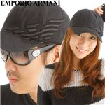 EMPORIO ARMANI(エンポリオ アルマーニ) イーグルプリント キャップ 627008-9W289 00020 ブラック