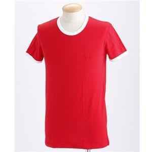 D&G(ディー&ジー) Tシャツ(2枚セット) /レッド&ホワイト XXL