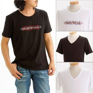 EMPORIO ARMANI(エンポリオ アルマーニ) ロゴプリントTシャツ 211067-0S454/【A】ブラック50画像3