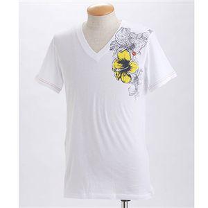 DIESEL(ディーゼル) メンズ プリントTシャツ BMOWT-OKHO CG5S-00EKZ ホワイト EUサイズL
