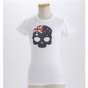 HYDROGEN(ハイドロゲン) レディース プリントTシャツ 0B2140 L6・ホワイト(オーストラリア) EUサイズXS