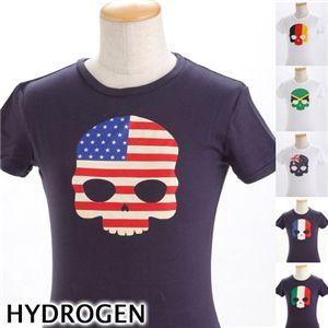 HYDROGEN(ハイドロゲン) レディース プリントTシャツ 0B2140 M1・ネイビー(イタリア) EUサイズXS