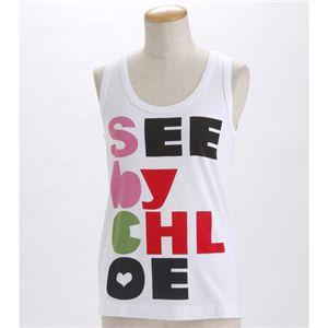 SEE BY CHLOE(シーバイクロエ) レディース タンクトップL493901-M1270 ホワイトEUサイズ42 - 拡大画像