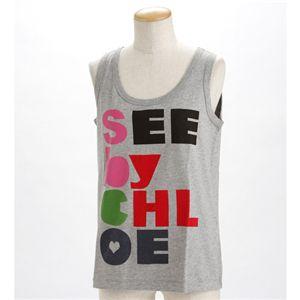 SEE BY CHLOE(シーバイクロエ) レディース タンクトップL493901-M1270 グレーEUサイズ42 - 拡大画像