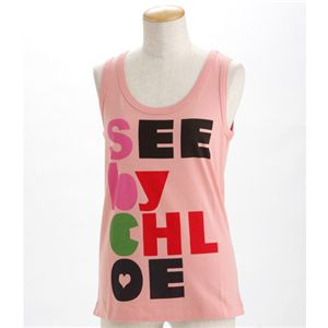 SEE BY CHLOE(シーバイクロエ) レディース タンクトップL493901-M1270 ペールピンクEUサイズ40 - 拡大画像