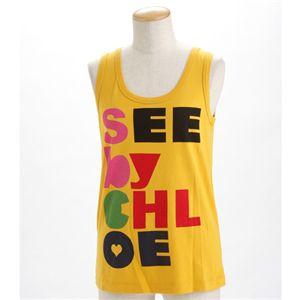SEE BY CHLOE(シーバイクロエ) レディース タンクトップL493901-M1270 イエローEUサイズ42 - 拡大画像