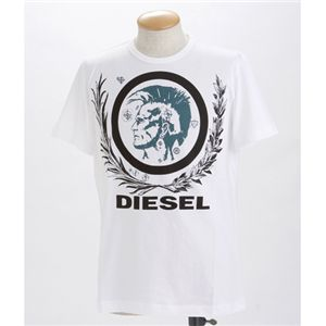 DIESEL(ディーゼル) メンズ Tシャツ【B】T-SOBER CDZZ-00919ホワイトSの写真1