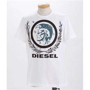DIESEL(ディーゼル) メンズ Tシャツ【B】T-SOBER CDZZ-00919ホワイトSの写真2