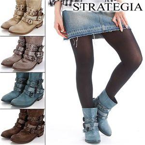 STRATEGIA(ストラテジア) ブーツ Cleo Argento【35(22cm)】