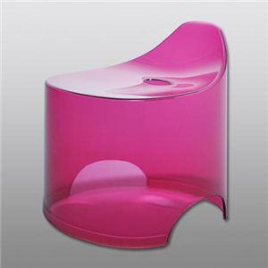 シンカテック dureau(デュロー) バススツール クリアタイプ ピンク