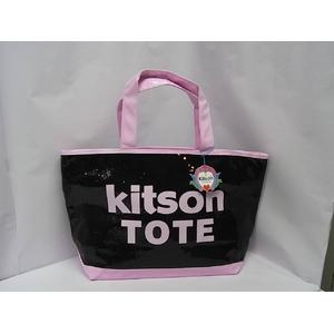 kitson(キットソン) シークインEWトート 3992 ブラック/ライトピンク