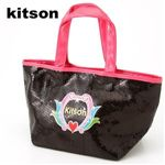 Kitson(キットソン) Sequin Mini Tote 3920 ブラック×ピンク