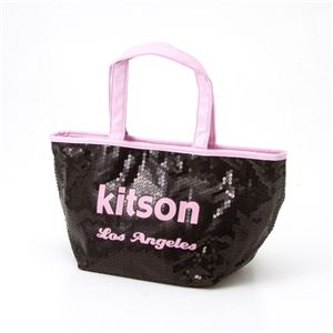 kitson(キットソン) スパンコール ミニトートバッグ SEQUIN MINI TOTE 3562 BLACK/PINK Mini