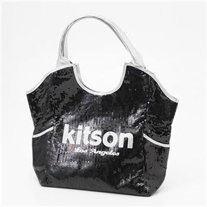 kitson(キットソン) スパンコール トートバッグ Sequin Tote Bag 3317 BLACK/SILVER ラージ