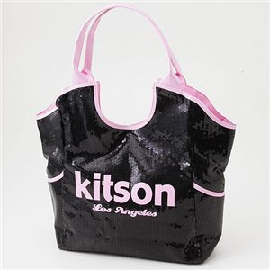kitson(キットソン) スパンコール バッグ SEQUIN BAG Black×Pink - 拡大画像