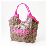 kitson(キットソン) レオパード柄 スパンコールバッグ SEQUIN TOTE BAG LEOPARD Pink×Pink