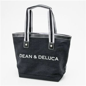 DEAN&DELUCA(ディーン&デルーカ) キャンバス トートバッグ MEDIUM BLACK