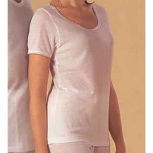汗とり肌着(帝人テビロン使用)婦人三分袖インナー LL - 拡大画像