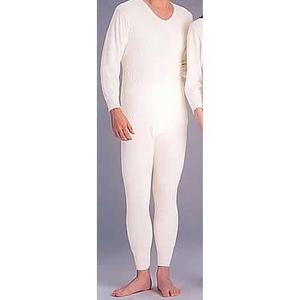 ひだまり肌着 紳士丸首長袖&ズボン下セット Mサイズ