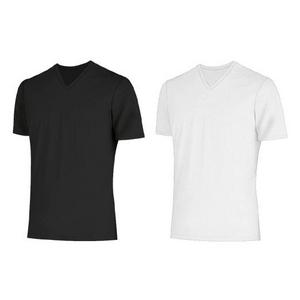 クールビズ 冷感シャツ CoolSpeed(クールスピード) 紳士用 半袖V首 Mサイズ ブラック