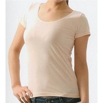 クールビズ 冷感シャツ CoolSpeed(クールスピード) 婦人用 半袖U首 Mサイズ ベージュ