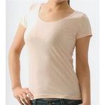 クールビズ 冷感シャツ CoolSpeed(クールスピード) 婦人用 半袖U首 Lサイズ ベージュ