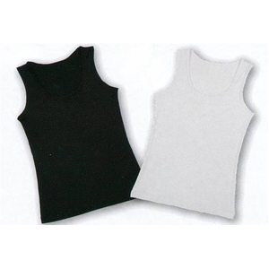 クールビズ 冷感シャツ CoolSpeed(クールスピード) 婦人用 ノースリーブ Lサイズ ブラック