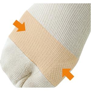 外反母趾予防 らくらくソックスL(2セット)ベージュ画像2