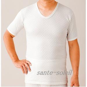極上(三層)キルト 紳士半袖シャツ M