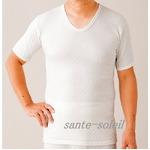 極上(三層)キルト 紳士半袖シャツ L