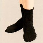 もこもこキルトソックス 婦人用ブラック2足組 22〜24cm