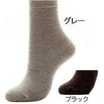 婦人暖かソックス 2足組 M(22〜24cm) グレー